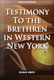 Testimony To the Brethren in Western New York