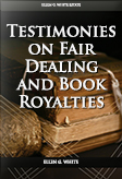 Testimonies on Fair Dealing and Book Royalties