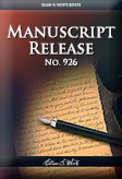 Manuscript Release No. 926